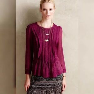 Anthropologie HD in Paris Thistleberry Blouse Top